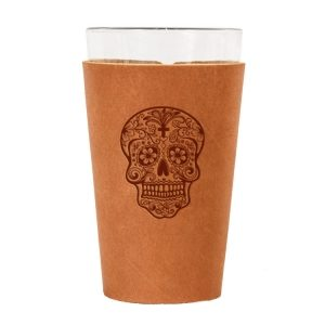 Single Stitch Pint Holder: Candy Skull