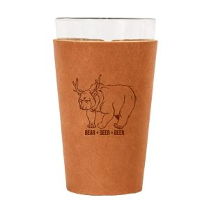 Single Stitch Pint Holder: Beer Bear