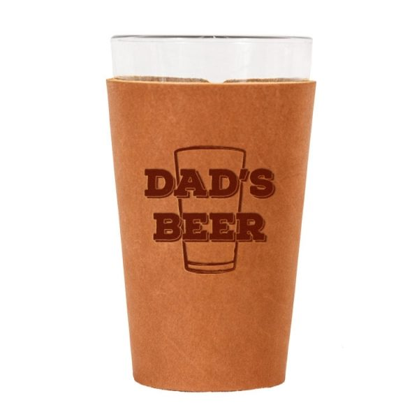 Single Stitch Pint Holder: Dad's Beer