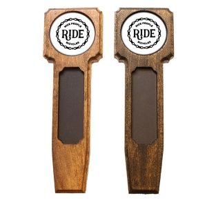 Square Top Homebrew Handle: Nice People Ride Bikes