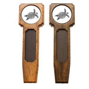 Square Top Homebrew Handle: Sea Turtle