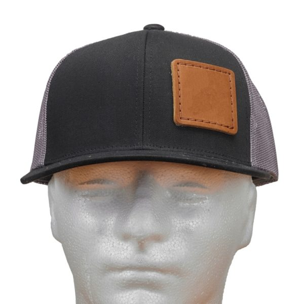 Black-Graphite Trucker Snapback with Custom Patch