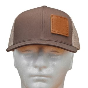 Brown-Khaki Trucker Snapback with Custom Patch