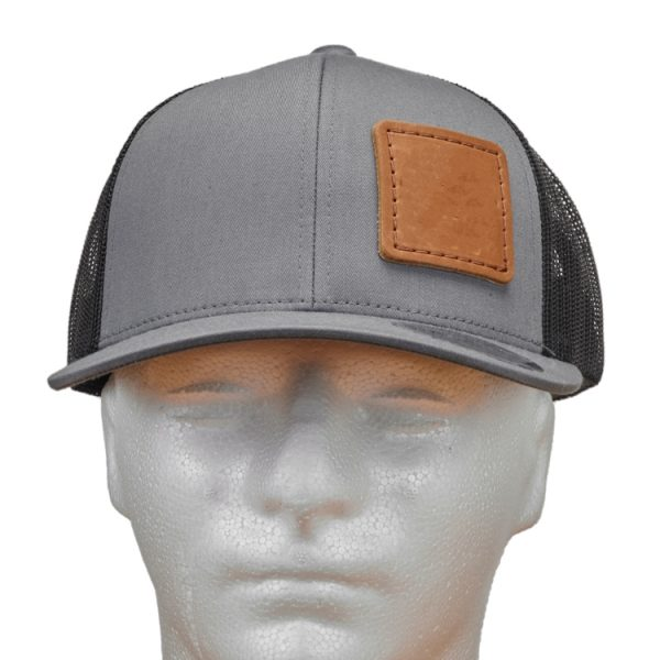 Graphite-Black Trucker Snapback with Custom Patch