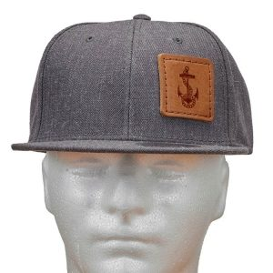 Wool Blend Flat Bill with Patch: Anchor