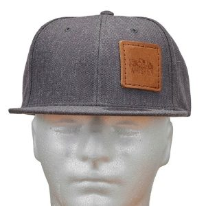 Wool Blend Flat Bill with Patch: Whiskey
