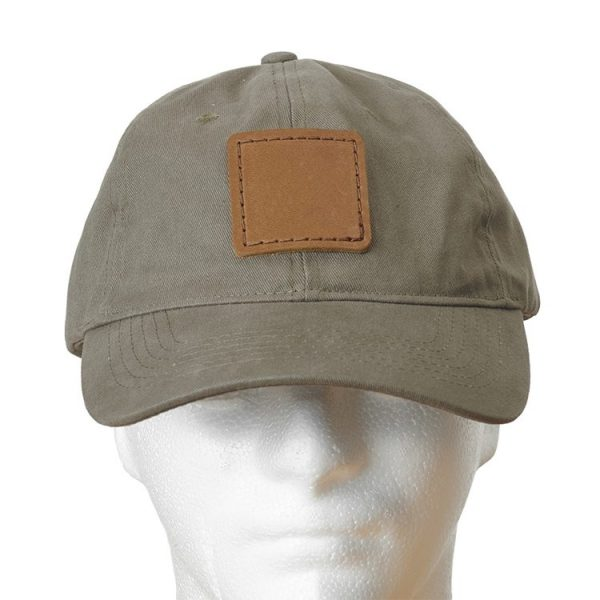 Sage Chino Unstructured Hat with Custom Patch