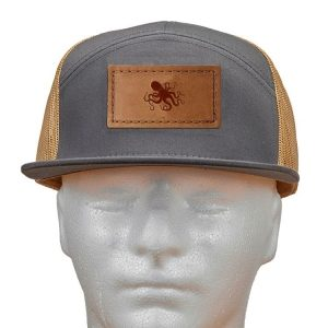 Seven Panel Twill Trucker: Octopus