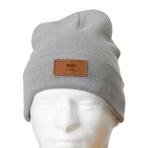 "12"" Cotton Blend Fold Beanie with Patch: Dad - Man, Myth, Legend"
