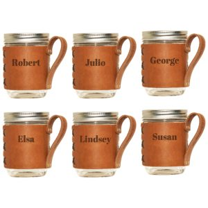 8-oz Copper Plated Flask with Wrap Set of 6