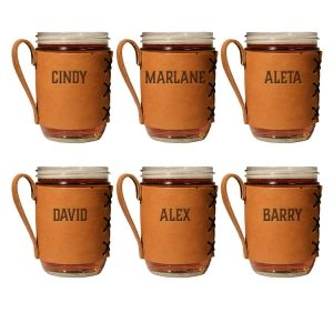 Wide Mason Jar Sleeve Set of 6