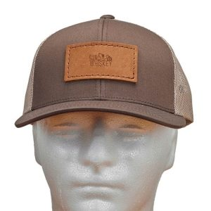 Trucker Snapback with Patch: Whiskey