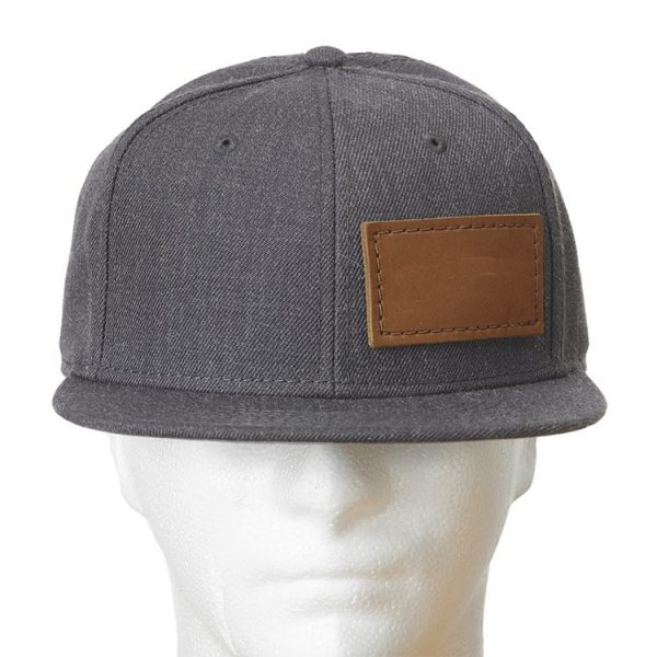 Wool Blend Flat Bill with Custom Patch