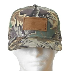Camo Curved Bill Decorative Hat with Custom Patch
