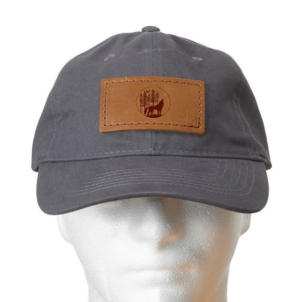 Chino Unstructured Hat with Patch: Howling Wolf