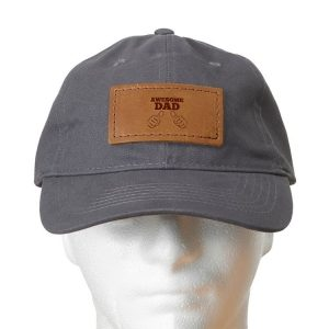 Chino Unstructured Hat with Patch: Awesome Dad