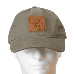 Chino Unstructured Hat with Patch: Fish Hook