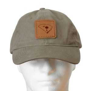 Chino Unstructured Hat with Patch: SC Palmetto