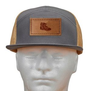Seven Panel Twill Trucker: Hike More, Worry Less
