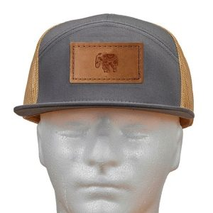 Seven Panel Twill Trucker: Elephant Mandala