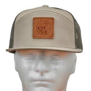 Seven Panel Twill Trucker: Fish Hook