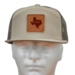Seven Panel Twill Trucker: TX Home