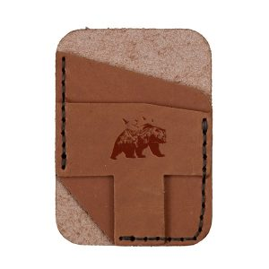Double Vertical Card Wallet: Mountain Bear