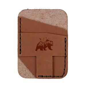Double Vertical Card Wallet: Mountain Bear
