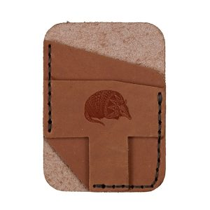 Double Vertical Card Wallet: Armadillo