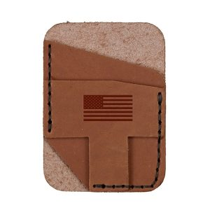 Double Vertical Card Wallet: American Flag