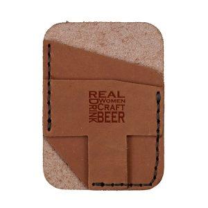 Double Vertical Card Wallet: Real Women...Beer