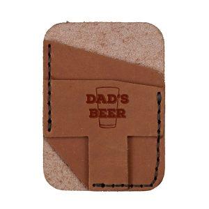 Double Vertical Card Wallet: Dad's Beer