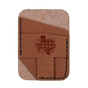 Double Vertical Card Wallet: Bigger In TX