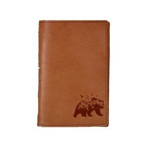Junior Legal Leather Portfolio: Mountain Bear
