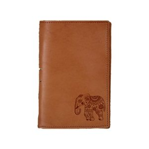 Junior Legal Leather Portfolio: Elephant Mandala
