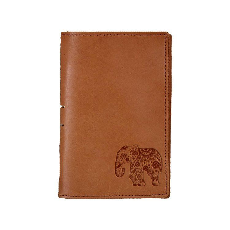 Junior Legal Leather Portfolio: Elephant Mandala