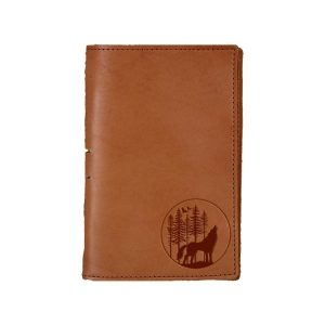 Junior Legal Leather Portfolio: Howling Wolf