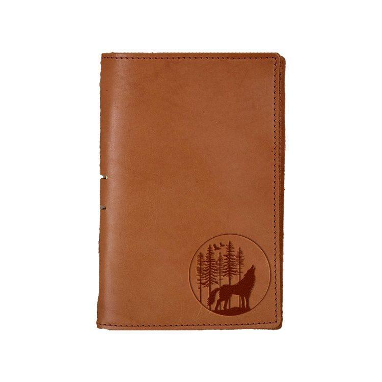 Junior Legal Leather Portfolio: Howling Wolf