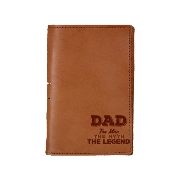 Junior Legal Leather Portfolio: Dad - Man, Myth, Legend
