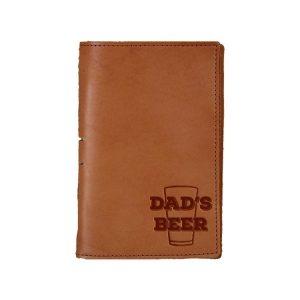 Junior Legal Leather Portfolio: Dad's Beer