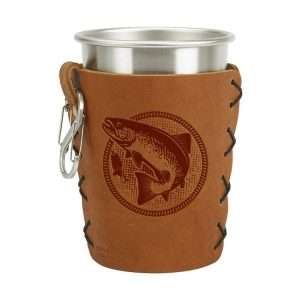 Stainless Steel Pint Holder with Loop & Clip: Fish