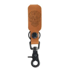 LOGO Leather Keychain: Candy Skull