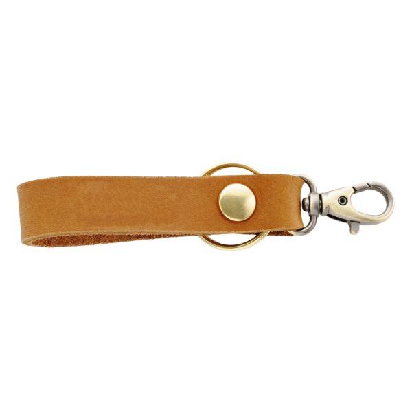 SLIM Leather Key Chain: Blank