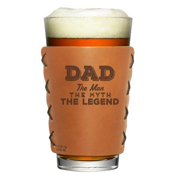 Pint Holder: Dad - Man, Myth, Legend