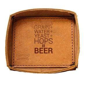 Leather Desk Tray: Beer Ingredients