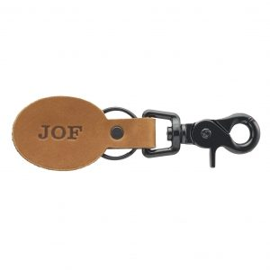 Oval Key Chain: Custom Initials