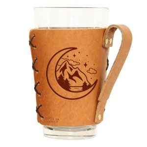 Pint Holder with Handle: Mountains & Moon