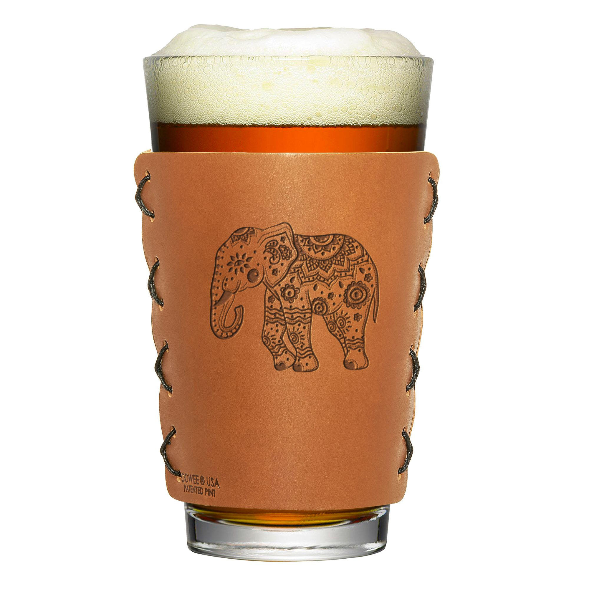 Pint Holder: Elephant Mandala