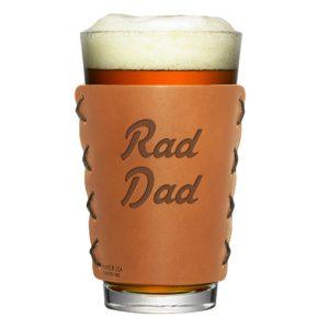Leather Pint Holder: Rad Dad