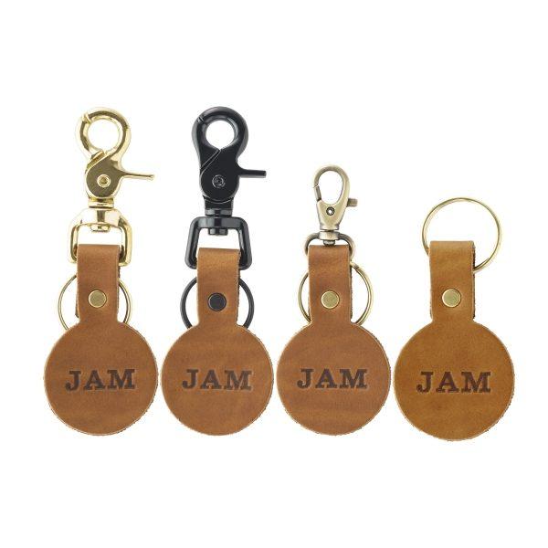 Round Key Chain: Custom initials
